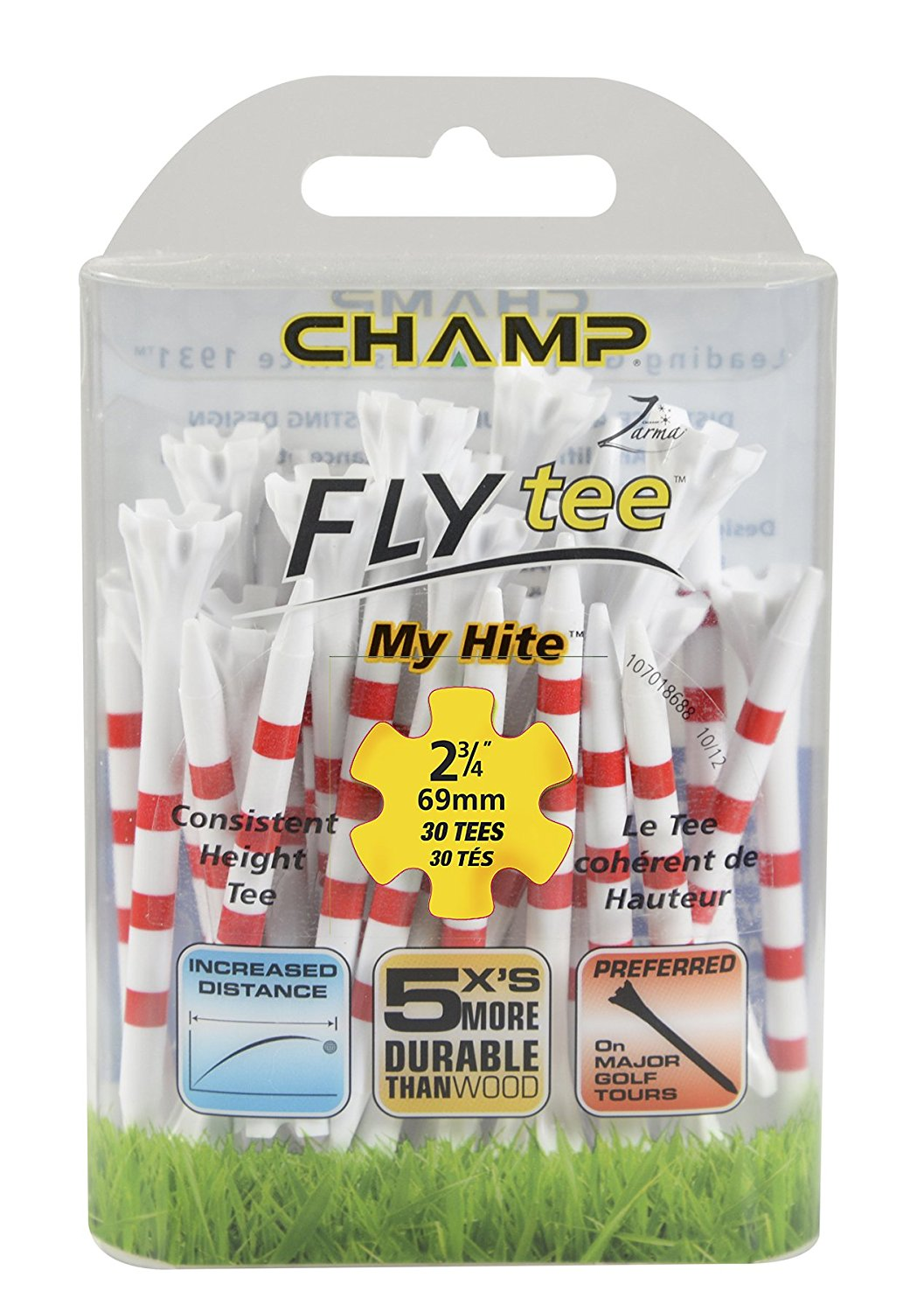 Champ My Hite Fly Tees (69/83mm) Golf Accessories Tees