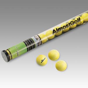 AlmostGOLF Practice Stick (gelb) - Sammelröhre